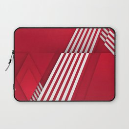 Optical illusion_red Laptop Sleeve