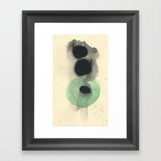 Cosmic Green Light Framed Art Print