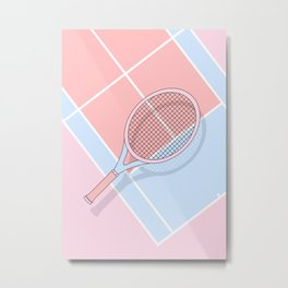 Hold my tennis racket Metal Print