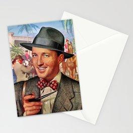 Retro -  Man -  Pipe -  Hat -  Style -  Suit -  Tie  - Vintage - Vintage illustration. Retro décor. Stationery Cards