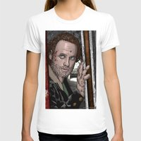 rick grimes T-shirts featuring Rick Grimes  Walking Dead by Kenneth Shinabery