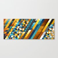 Canvas Prints featuring Geometric Sunset Panoramic by Francisco Valle