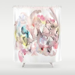 Watercolor fantastic ing 34 Shower Curtain