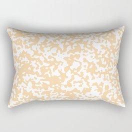 Small Spots - White and Sunset Orange Rectangular Pillow
