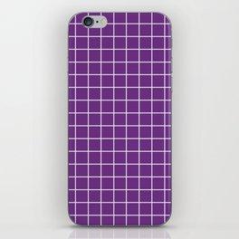 Eminence - violet color - White Lines Grid Pattern iPhone Skin