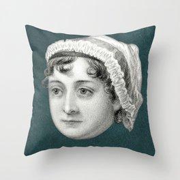 Jane Austen, c. 1810 Throw Pillow