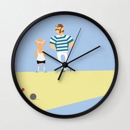 men bowling Wall Clock