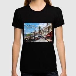 Sidewalk Cafe at Calvi France T-shirt
