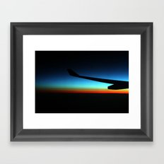 Dawn over the ocean Framed Art Print