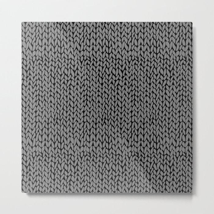 Hand Knit Dark Grey Metal Print