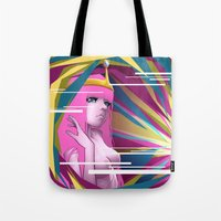 princess bubblegum Tote Bags featuring Princess Bubblegum by Kimball Gray