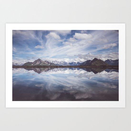 Mountain Lake Reflection Art Print