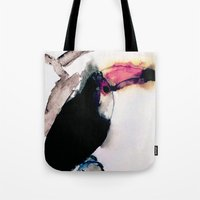 toucan Tote Bags featuring toucan by Kay Weber