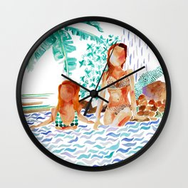 Jungle Jacuzzi Wall Clock