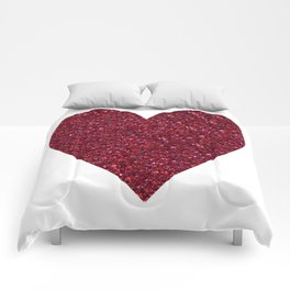 Sparkling Heart red Comforters