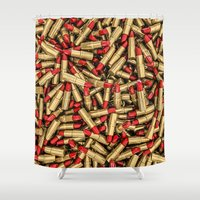 lipstick Shower Curtains featuring Lipstick by GrandeDuc
