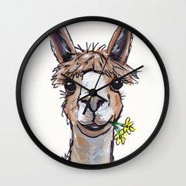 Lycoming the Alpaca, Alpaca Art Wall Clock