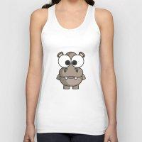hippo Tank Tops featuring Hippo by binbinrobin