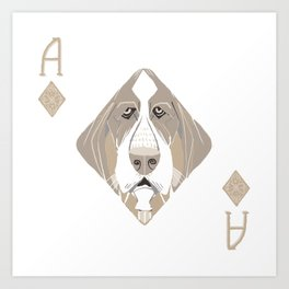 Ace of Diamonds Art Print