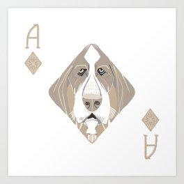 Ace of Diamonds Art Print