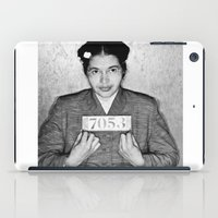 parks and rec iPad Cases featuring Rosa Parks Mugshot by All Surfaces Design