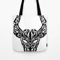taurus Tote Bags featuring Taurus by Mario Sayavedra