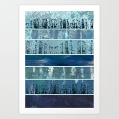 Abstract Sea City Art Print