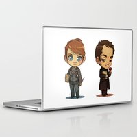 crowley Laptop & iPad Skins featuring Naomi & Crowley by Ravenno