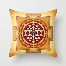 Sri Yantra IV.I Throw Pillow