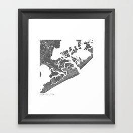 Atlantic City Modern Map Art Print Framed Art Print