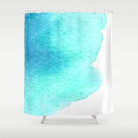 pisces Shower Curtains featuring Pisces by Amee Cherie Piek