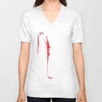vampire diaries V-neck T-shirts featuring Vampire by Mr. And Mrs. Inky Hands