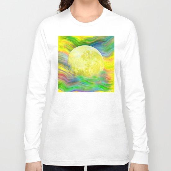 MOON VISIONS AT SEA OIL PAINTING Long Sleeve T-shirt