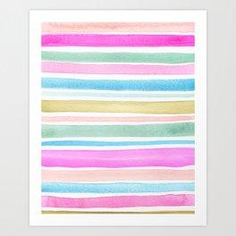 June Stripes Art Print