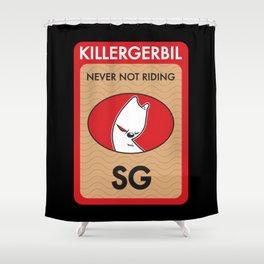 Killer Gerbil Red Tubing Shower Curtain