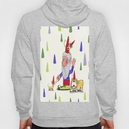 A gnome, two dogs, and a cat Hoody