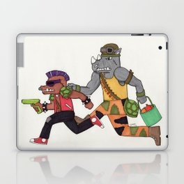 Bebop and Rocksteady Water Fight Laptop & iPad Skin