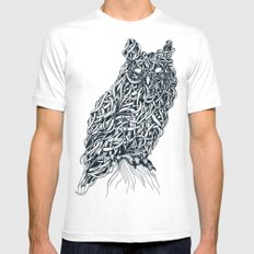 Owl MEDIUM Mens Fitted Tee White