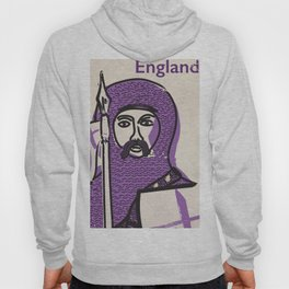 England and Saint George vintage style travel poster Hoody