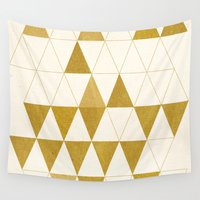 triangles Wall Tapestries featuring My Favorite Shape by Krissy Diggs