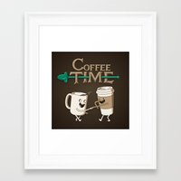 coffee Framed Art Prints featuring Coffee Time! by powerpig