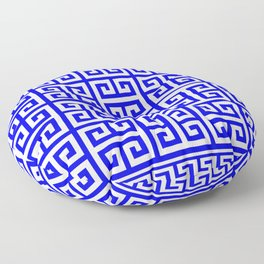 Greek Key (Blue & White Pattern) Floor Pillow