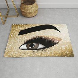 Gold Lashes Eye Rug