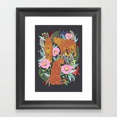 The leopard at night, leopard print, animal print Framed Art Print