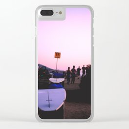 Surfboards at Sunset Cliffs Clear iPhone Case