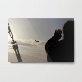the plane Metal Print
