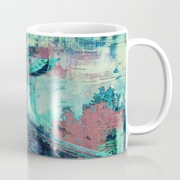 Totem Cabin Abstract - Teal Coffee Mug