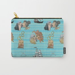 Celebration on Board - Turquoise Carry-All Pouch