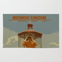 moonrise kingdom Area & Throw Rugs featuring Moonrise Kingdom by FunnyFaceArt
