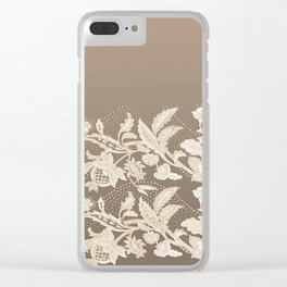 old lace border Clear iPhone Case